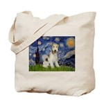 Starry / Fox Terrier (W) Tote Bag
