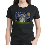 Starry / Fox Terrier (W) Women's Dark T-Shirt