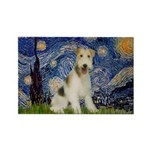Starry / Fox Terrier (W) Rectangle Magnet