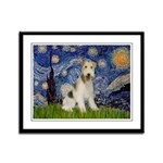 Starry / Fox Terrier (W) Framed Panel Print