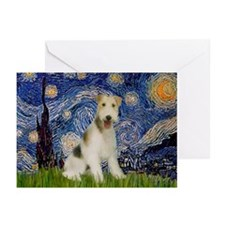 Starry / Fox Terrier (W) Greeting Cards (Pk of 20)