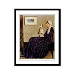 Mom's Wire Fox Terrier Framed Panel Print