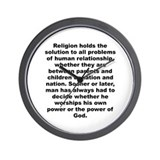 Cute A j toynbee quote Wall Clock