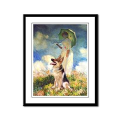 Umbrella & G-Shep Framed Panel Print
