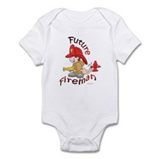 Cute Funny firefighter Infant Bodysuit