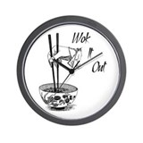 Wok It Out Wall Clock