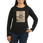 Lucky Luciano Women's Long Sleeve Dark T-Shirt