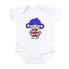 Girl in Union Jack Dress Infant Bodysuit