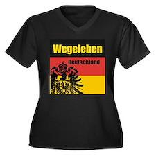 Wegeleben Deutschland  Women's Plus Size V-Neck Da