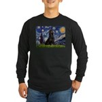 Starry Night & Gordon Long Sleeve Dark T-Shirt