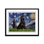 Starry Night & Gordon Framed Panel Print