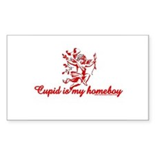 Cupid Is My Homeboy Rectangle Decal