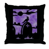 Gothic Graveyard Throw Pillow