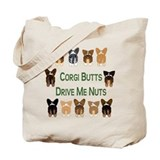 Both Corgi Butts Tote Bag