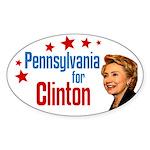 Pennsylvania for Clinton oval bumper sticker