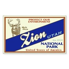 Zion (Mule Deer) Rectangle Decal