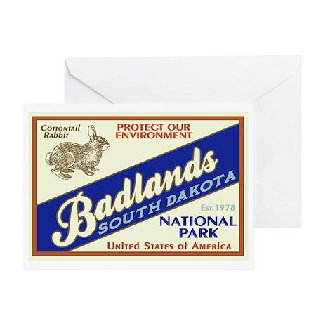 Badlands (Rabbit) Greeting Card