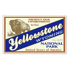 Yellowstone (Buffalo) Rectangle Decal