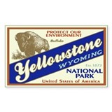 Yellowstone (Buffalo) Rectangle Pegatinas