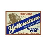 Yellowstone (Buffalo) Rectangle Magnet