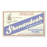 Shenandoah (Woodpecker) Rectangle Decal