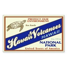 Hawaii Volcanoes (Turtle) Rectangle Decal
