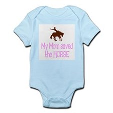Mom saved the horse - girl Infant Bodysuit
