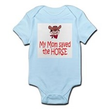Mom saved the horse - boy Infant Bodysuit