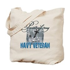 Proud of My Navy Veteran Tote Bag
