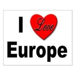 I Love Europe Small Poster