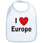 I Love Europe Bib