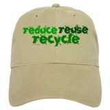 Reduce Reuse Recycle 1 Baseball Cap
