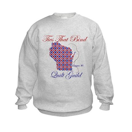 Ties That Bind Quilt Guild Kids Sweatshirt