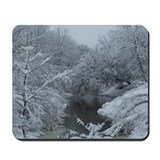 New England Snowy Brook Mousepad