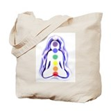 Meditating Spirit with Chakras Tote Bag