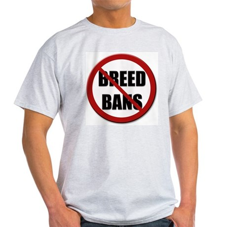 No Breed Bans Ash Grey T-Shirt