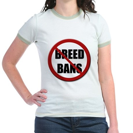 No Breed Bans Jr. Ringer T-Shirt