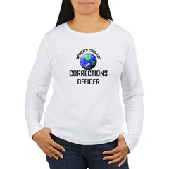 World's Coolest CORRECTIONS OFFICER Women's Long S