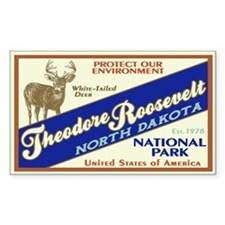 Theodore Roosevelt (Deer) Rectangle Decal