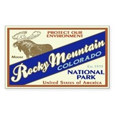Rocky Mountain (Moose) Rectangle Decal