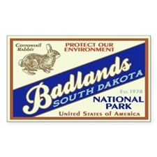 Badlands (Rabbit) Rectangle Decal