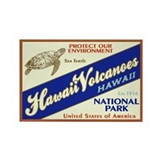 Hawaii Volcanoes (Turtle) Rectangle Magnet
