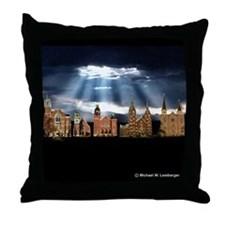 Five Churches, One Faith Throw Pillow