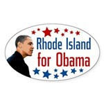 Rhode Island for Obama oval bumpersticker