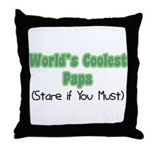 World's Coolest Papa Throw Pillow