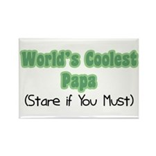 World's Coolest Papa Rectangle Magnet