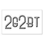 2GTBT Rectangle Sticker