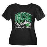 Irish Whiskey Women's Plus Size Scoop Neck Dark T-