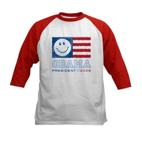 Obama Smiles Kids Baseball Jersey