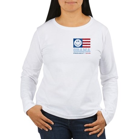 Obama Smiles Women's Long Sleeve T-Shirt
